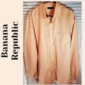 🔮BANANA REPUBLIC No ironClassic Button Down Shirt